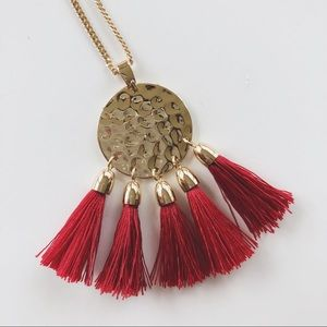 BANANA REPUBLIC | Hammered Gold Tassel Necklace